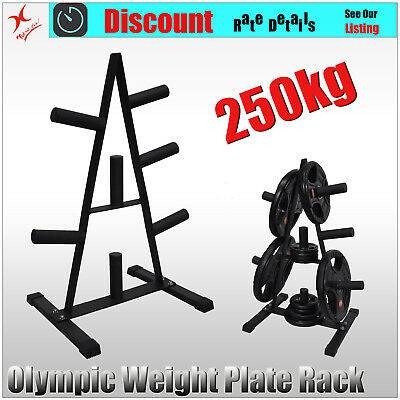 Olympic Weight Plate Storage Rack - Home Gym Weight Plate Tree - Store 250kg+