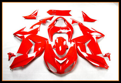 Us Stock Injection Fairing Kit For Kawasaki 2006-2007 Zx-10R Zx 10R Glossy Red