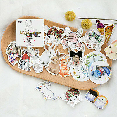 45pcs Cute Rabbit Planner Stickers Paper Sticky Notes Stationery Office School