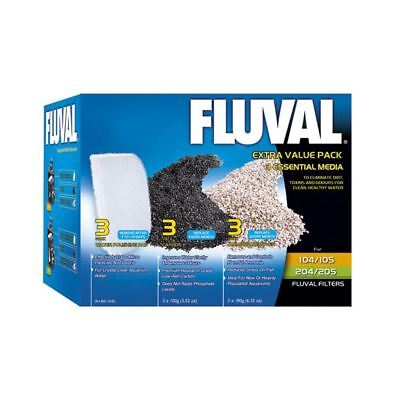 Fluval Extra Value Media Pack for 105/205, 106/206 Carbon Ammonia Remover