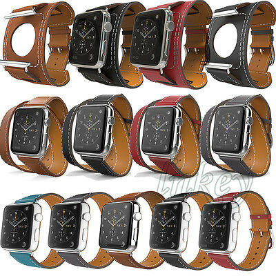 New Genuine Leather Band Strap Bracelet Watchband For Apple Watch 38mm/42mm