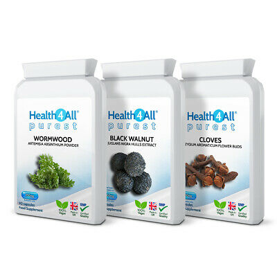 Health4All Wormwood, Black Walnut, Cloves PARASITE CLEANSE DETOX SET Capsules