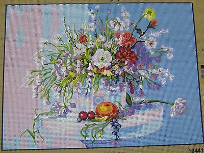 "Flowers & Fruit Tapestry/Needlepoint Canvas - 15.75"" x 12"""