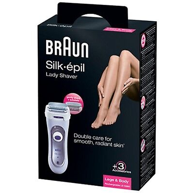 BRAUN Silk-epil 5560 Ladies Rechargeable Shaver LS5560 +POUCH +WARRANTY *NEW*