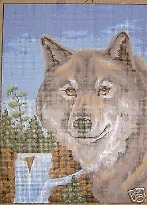 Wolf Falls Tapestry Needlepoint Canvas