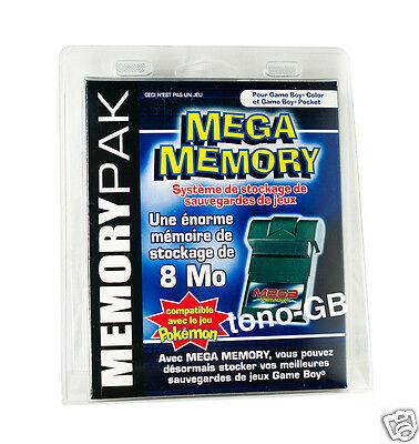 Mega Memory - Back up your saves! For Game Boy Color, Pocket & GBA *NEW & BOXED*