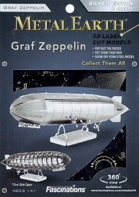 Fascinations Metal Earth Graf Zeppelin Airship Historic Collectible 3D Model
