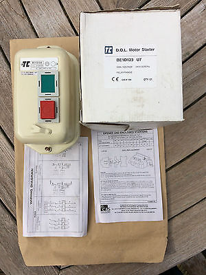 BE1-D123U7 Europa Components Dol Direct on Line Starter Metal 12A 5.5Kw 240V
