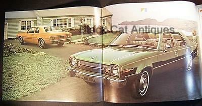 Original 1974 American Motors Hornet Sedan Color Fold-Out Brochure Canada