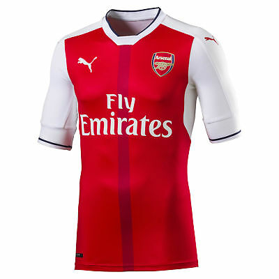 Official Arsenal Puma Mens Gents Football Soccer Home Authentic Shirt 2016-2017