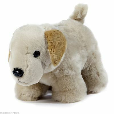New Plush Coin Change Money Bank Animal Removable Plug Yellow Labrador Lab Dog