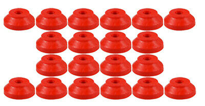 Pack of 20 x  Red Rubber Washers 30mm x 8mm x 8mm