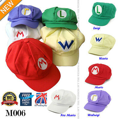 Super Mario Bros Anime Octagonal Hat Cap Cosplay Party Fancy Dress 5 Style M006