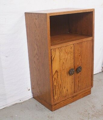 Nice SOLID Vintage / Antique British Bedside Cabinet Nightstand End Table