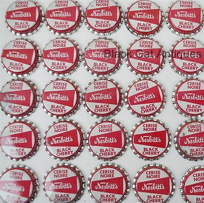 Lot of 100 NESBITT`S BLACK CHERRY CERISE Vintage Unused Soda Crowns Caps NOS Pop