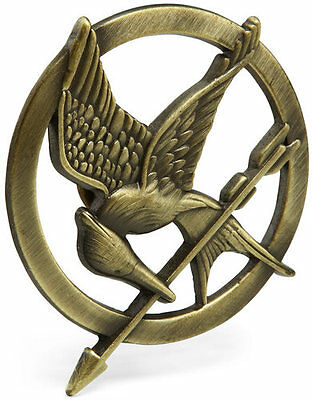 HUNGER GAMES MOCKINGJAY BADGE JAY KATNISS COSPLAY pin the ragazza by fire
