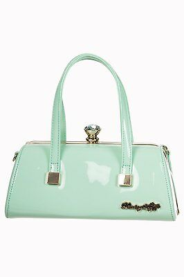Banned Dancing Days Emily 1950s Bag Mint Green Vintage Purse Pinup Rockabilly