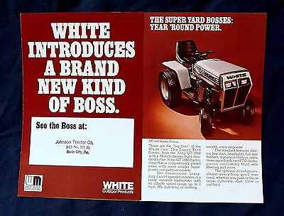 Vintage White Motor Corporation Lawn Tractor Advertising Brochure, circa 1970's!