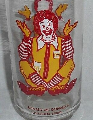 Vintage Mcdonalds Ronald McDonald Collector Series Glass