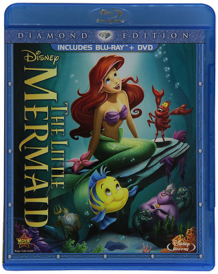 The Little Mermaid Diamond Edition BLU-RAY & DVD Disney Classic Movie BRAND NEW