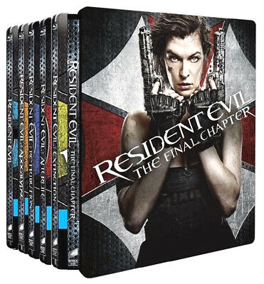 RESIDENT EVIL COLLECTION 01-06 EDIZIONE STEELBOOK (6 BLU-RAY) con Milla Jovovich