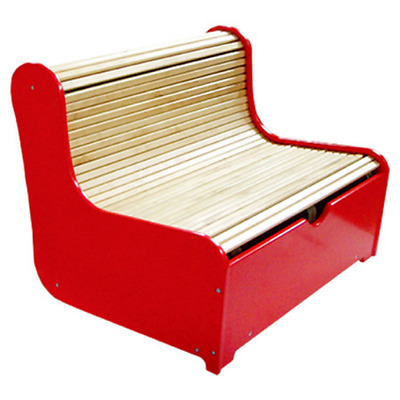 Refurbished Rolling Kids Bench w/ Storage Compartment, good for homes&preschools