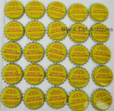 Lot of 100  GINGERALE Bilingual Vintage Unused Soda Crown Crowns Caps NOS Pop