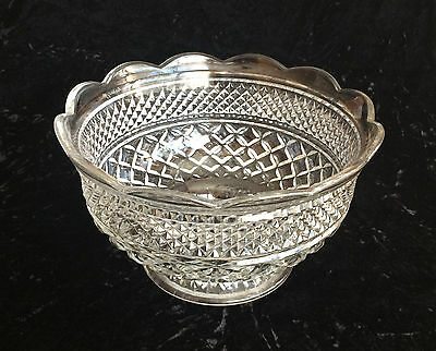 Anchor Hocking Wexford Footed Clear Punch Bowl