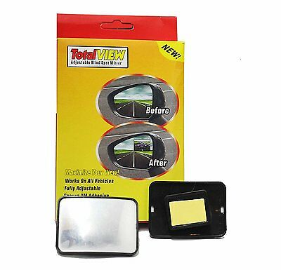 1 Pc TOTAL VIEW BLIND SPOT MIRROR ADHESIVE STICKY WIDE VIEW ANGLE LANE CHANGE