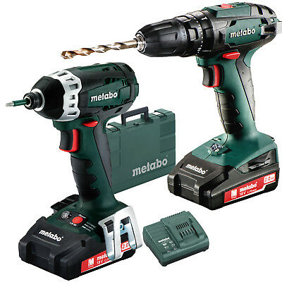 Combo 2.1.8 18 V Cordless Machines in a Set Metabo 685087520 New