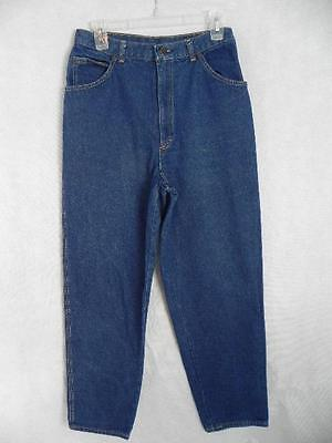 Vtg CHERYL TIEGS High Waist Jeans 28x29 vtg 14 = S M Cotton Denim Indigo Blu g43