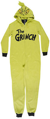 Dr Seuss The Grinch Who Stole Christmas One Piece Union Suit Pajama PJ Sleepwear