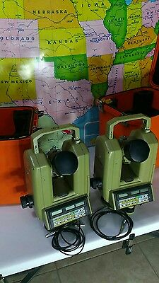 Lot of 2 Leica Wild Model T3000 Theodolite Instruments with Carrying Cases