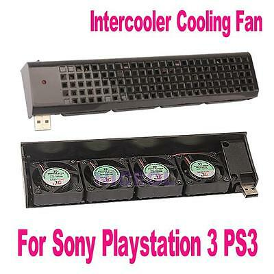 USB 4x 40mm Fan Cooling Fan Cooler with On/Off Switch for Sony PlayStation 3 PS3