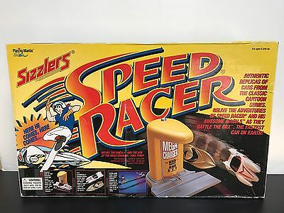 Sizzlers SPEED RACER rechargeable race track with Mach 5 and GRX cars Sealed Box