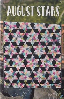 August Stars - fabulous modern pieced quilt PATTERN - Jaybird Quilts