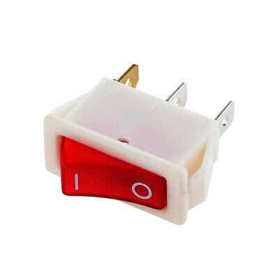 On/Off Red Neno Light 4 Pin DPST Rocker Switch AC 16A/250V 20A/125V for Auto