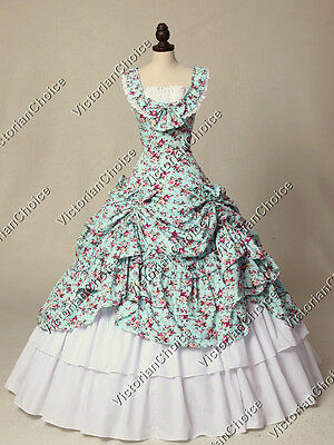 Victorian Belle Floral Dress Pride and Prejudice Gown Reenactment Theater 081