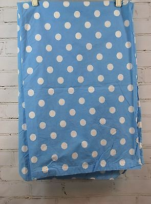 THE COMPANY STORE KIDS Toddler Bed/Crib Duvet Cover Blue & White Polka Dots
