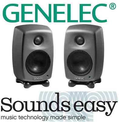 Genelec 8010A Professional Ultra Compact Studio Monitor Speakers PAIR