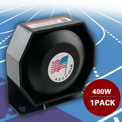 New Universal 200W 12V Compact Loud Speaker PA System Horn Emergency Warning Sir