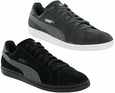 Puma Suede Classic Smash Jersey Leather Mens Trainers Grey 958c6abb1