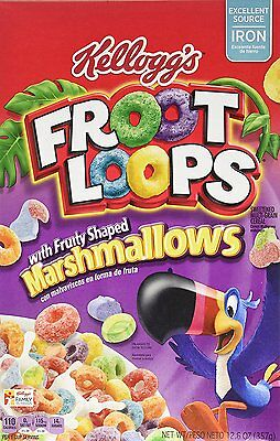 Fruit / Froot Loops Fruity Marshmallows American Cereals TWO BOXES -  Import
