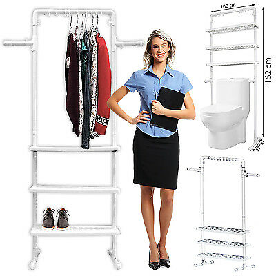 3 Tier Telescopic Adjustable Bathroom Caddy Kitchen Shelf Storage Organizer Rack