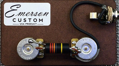 Emerson Custom Prewired Kit LP Junior with Bumblebee Caps fits Les Paul Junior ®
