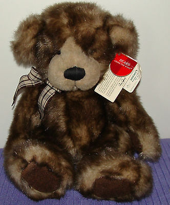 "Russ Cappuccino Bear @ 14"" Tall 4312 Rare Handmade Version With Paper Tags~ Ar"
