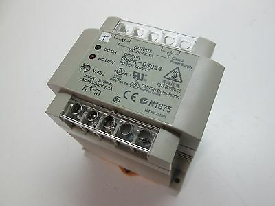 Omron S82K-05024 DC Power Supply 24VDC DC 2.1A 100-240VAC 1.3A Input DIN Mount