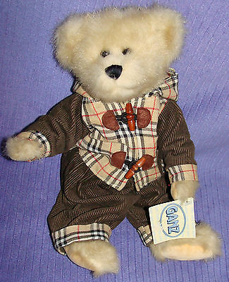 """Ganz Bear Ollie H4940 Retired 2001 W/paper Tag Fully Jointed 12"""" Tall  - Ck"""