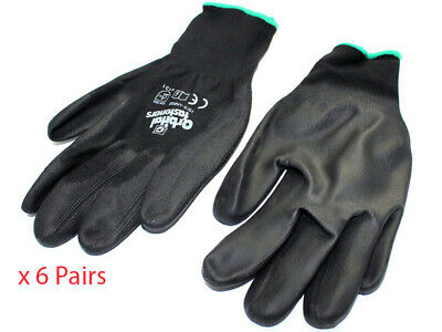 Pack of 6 x Mechanics Gloves Pair Size XL / 10