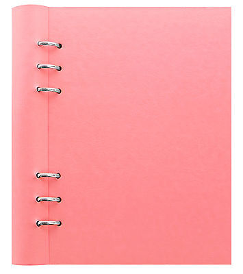 Filofax A5 Clipbook Pastel Rose Refillable Notebook Binder Leather Look